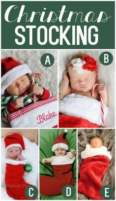 Cute Holiday Photo Prop Ideas for baby's first Christmas