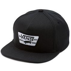 187553e4548 Vans Full Patch Snapback Cap - True Black