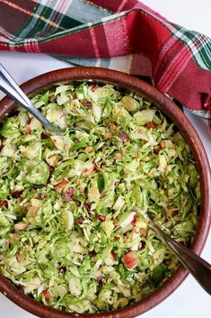Shaved Brussels Sprout Salad w/ Maple Mustard Dressing