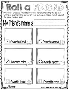 reading activity  Objective: Given a buddy...the child will be able to fill out information about their buddy. Skills: fine motor skills                                                                                                                                                                                 More