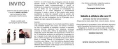 """La QUINTA PARETE vi invita al II Studio di """"PUNTO E A CAPO""""   Sabato 6 Ottobre presso la Ex Lavanderia - Piazza Santa Maria della Pietà, 5 Monte Mario (ROMA)"""