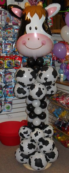 Decorate your next party of event with a Balloon Column. We have many styles to pick from. Farm Animal Party, Farm Animal Birthday, Barnyard Party, Cowgirl Birthday, Farm Birthday, Farm Party, Birthday Parties, Balloon Arrangements, Balloon Decorations