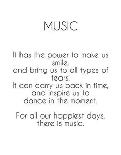 Music has POWER.