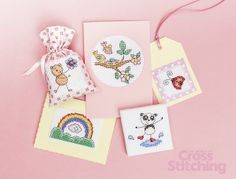 Design Library collection – 'Springtime cuties', cross stitch charts by The World of Cross Stitching, issue 215. Find these and all 40 motifs in the set!!