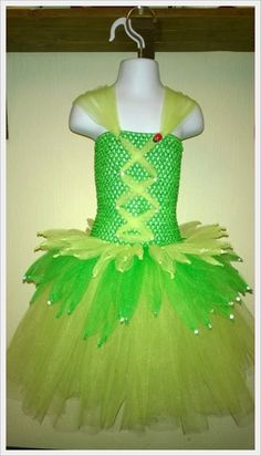 Tinkerbell inspired dress by Monika's Magic Craft available from www.ourcraftythings.co.uk/monikasmagiccraft