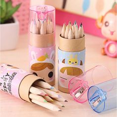 Japão e Coreia do Sul papelaria bonito menina de 12 constelação de lápis de cor pequeno, lápis colorido desenho da pena de 5121628 2017 por $4.99