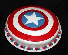 captain america birthday cake | Captain America shield — Children's Birthday Cakes