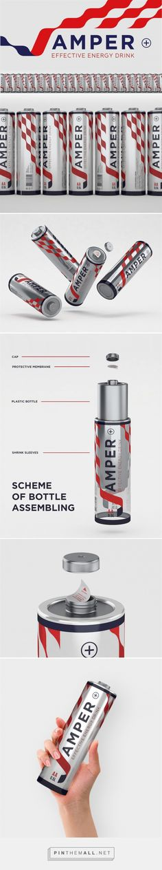 J-Amper Energy Drink Concept packaging design by Vadim Bunkov (Russia) - http://www.packagingoftheworld.com/2016/05/j-amper-energy-drink-concept.html