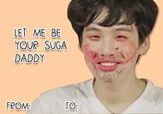 BTS Valentine's Day Cards