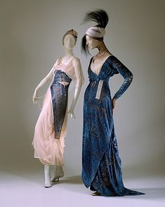 Historically Romantic: Evening gowns from 1912 and 1915.
