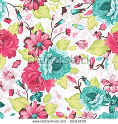 Seamless Ornate Floral Pattern Vector Background   Free Vector Graphics   All Free Web Resources for Designer - Web Design Hot!