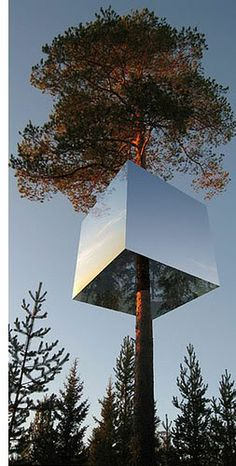 Sweden Tree Hotel. Located In the middle of the forest, in the beautiful village of Harads (nearest town - Boden), approximately 60km from the Artic Circle, and an hour drive from Luela. This is one of seven different tree hotels created by husband and wife Britta Jonsson-Lindvall and Kent Lindvall.