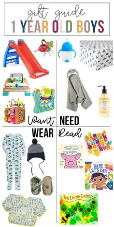 Want, Need, Wear, Read: The Gift Guide for 1 Year Old Boys