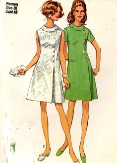60s Vintage Dress mod Sewing pattern Simplicity 8541 by HeyChica