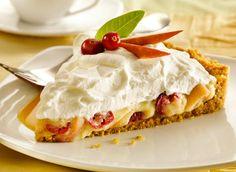 Tarte à la crème pâtissière vanillée, aux pommes et aux canneberges recette   Plaisirs laitiers