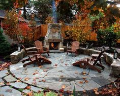 Beautiful fall outdoor space