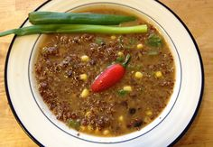 Meatless Monday: Roasted Pepper & Red Quinoa Soup