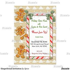 Gingerbread Invitation