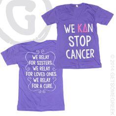 KAPPA DELTA RELAY FOR LIFE SORORITY CUSTOM CHAPTER ORDER!! WE KAN STOP CANCER! GETSOMEGREEK & KAPPA DELTA!