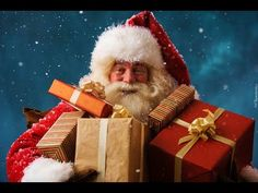From the traditional jolly Santa Claus and Father Christmas to the female Christkind, mythical beings at Yuletide take many forms. Mariah Carey, Father Christmas, Merry Christmas, Christmas Gifts, Christmas Pillow, Vintage Christmas, Face In Hole, Santa Face, North Pole