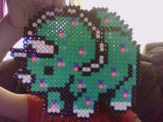 Perler bead Dinosaur! by PerlerQueen5220 on deviantart