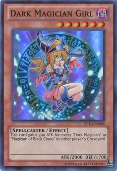 Dark Magician Girl holo yugioh card