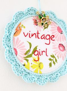Embroidery Hoop Art - Cottage Industry Shop