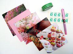 Set of 5 envelopes. Handcut from encycled magazine door FifisDream