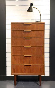 CHIFFONNIER - COMMODE EN TECK Design Scandinave, Années 60 - REF.1045