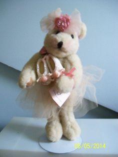 Plush Teddy Ballet Dancer Girl Swan Lake Stuffed Bear Animal OOAK artist signed