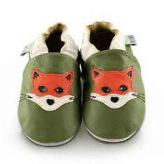 Snuggle Feet – Suaves Zapatos De Cuero Del Bebé zorro (18-24 meses)