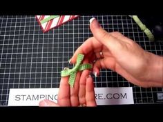 Stick on bows are my specialty! So are flat knot tie-ons! Check out this video to see how I do both and add a little sweetness to your greeting cards.