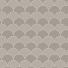 Stone Scallops contact paper / shelf liner. This scallop pattern features shades of light and medium gray taupe.