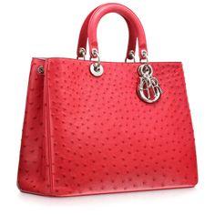 0371b2ed22c8 Diorissimo Lady D autruche rouge cerise