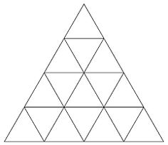 Triangles in a Big Triangle Puzzle : How Many Triangles