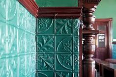 Acanthus design - painted turquoise