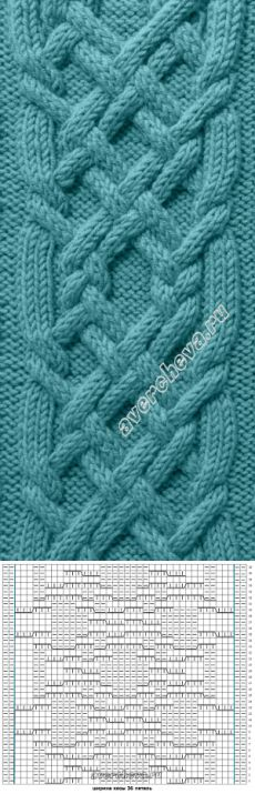 Fantasies of braids spokes from Avercheva. Crochet Pullover Pattern, Cable Knitting Patterns, Knitting Stiches, Knitting Charts, Knitting Designs, Knit Patterns, Hand Knitting, Stitch Patterns, How To Purl Knit