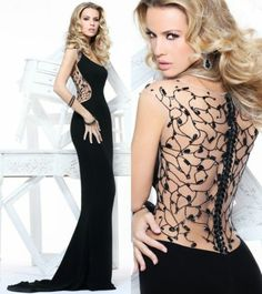 2014 Black Sexy New Custom Gowns Beaded Mermaid Formal Long Wedding Dresses | eBay