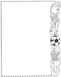 Marcos y bordes pedagógicos - Betiana 1 - Λευκώματα Iστού Picasa Doodle Borders, Borders For Paper, Borders And Frames, Blank Wedding Invitation Templates, Boarder Designs, Notebook Cover Design, School Murals, Baby Wallpaper, Zentangle Patterns