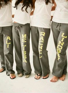 Bridesmaids Sweats for the Morning Of