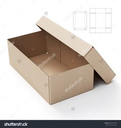 Lid And Tray Box With Die Cut Template Stock Photo 284372666 : Shutterstock