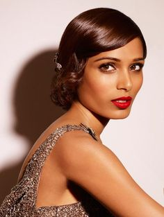 Freida Pinto Cannes 2013 1920's style hair and makeup ... so beautiful!!!!!!!!!!!!!!