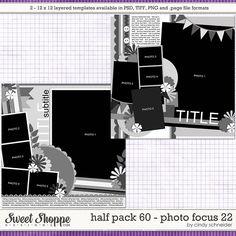 Cindy's Layered Templates - Half Pack 60: Photo Focus 22 by Cindy Schneider