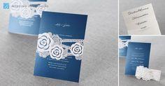 Flower Sash I Laser Cut by B Wedding Invitations #weddinginvitation #sashcard #wedding #invitations #bweddinginvitations