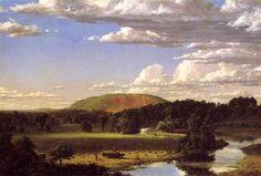 West Rock, New Haven, huile sur toile de Frederic Edwin Church (1826-1900, United States)