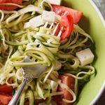 Zucchini Pasta with Feta - 5 Smart Points - LaaLoosh