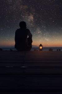 stars sky lonely infinite milky way man lamp sunset deck Adventure Is Out There, Stargazing, Belle Photo, Night Skies, Sky Night, Night Time, The Great Outdoors, Art Photography, Camping Photography