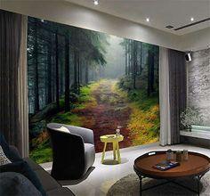 Norwegian Forest Nature Full Wall Mural Photo Wallpaper Print Kids Home 3D Decal