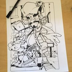 Today's drawling stuff...#cheo #sketch #bboy #ironlakstrikers #bee #cazal