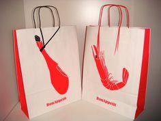 #Bolsas de #Papel Creativas realizadas por @Bolsas de Papel y Tela Servibags siguiendo un diseño de Estudio David Robles para el Patronato de Turismo de Huelva en Fitur 2013 #Creative #Bags